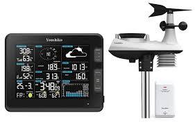 100 Wundergound Weather Station Premium Quality HD Display Official UK Version WiFi Internet Wunderground Professional 6in1 Wireless Sensor Wind Speed