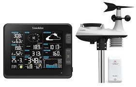 100 Wundergrou Nd Weather Station Premium Quality HD Display Official UK Version WiFi Internet Nd Professional 6in1 Wireless Sensor Wind Speed