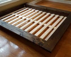 bed low profile platform bed frame home interior design