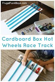 how to make a cardboard box race track for wheels cars