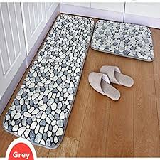 ustide 2 teilig grau stein teppich badezimmer teppich set