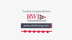 100 Rwi Trucking RWI Transportation Reviews Complaints YouTube