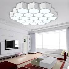 led moderne einfache wohnzimmer deckenleuchten kreative waben licht acryl dimmen warmes schlafzimmer deckenleuchte ac100 265v