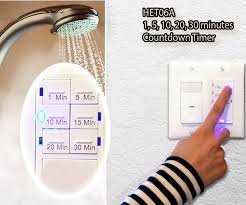 Humidity Sensing Bathroom Fan Wall Mount by Push Button 30 Minute Countdown Timer Switch Het06a Topgreener