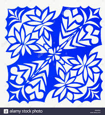 Contemporary Paper Cutting Floral Design Stock s
