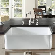 Shaws Original Farmhouse Sink by 100 Rohl Sinks Kitchen Rohl Single Bowl Fireclay White Kitchen