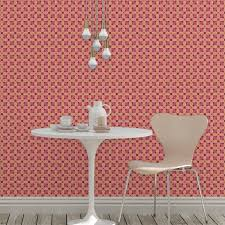 ornamenttapete deko lilly retro muster in lila design tapete für wohnzimmer