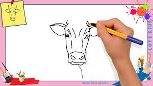 Coloriage Vache Facile
