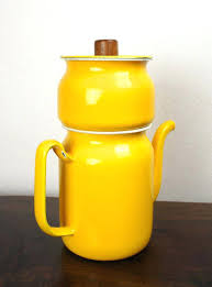 Vintage Drip Coffee Maker Yellow Japanese By Thelionsdenstudio French Pot