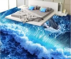 chambre dauphin 3d plancher papel de parede 3d europeu dauphin vagues chambre