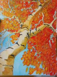 Art Project Ideas Autumn Landscape Home Design 7
