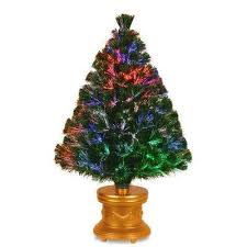 Fiber Optic Fireworks Evergreen Artificial Christmas Tree