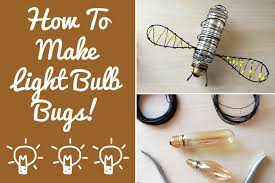 diy light bulb bugs a easy recycling project fern