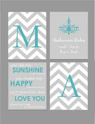 Gray And Teal Bathroom by Teal And Gray Bathroom Art Home Decor Prints You Are My