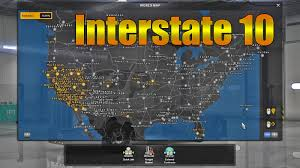 ATS Interstate 10 Map - American Truck Simulator Mods - YouTube Delivery Goods Flat Icons For Ecommerce With Truck Map And Routes Staa Stops Near Me Trucker Path Infinum Parking Europe 3d Illustration Of Truck Tracking With Sallite Over Map Route City Mansfield Texas Pennsylvania 851 Wikipedia Road 41 Festival 2628 July 2019 Hill Farm Routes 2040 By Us Dot Usa Freight Cartography How Much Do Drivers Make Salary State Map Food Trucks Stock Vector Illustration Dessert