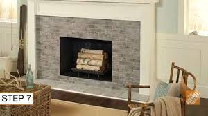 tiling a fireplace with brick look tile decor how to