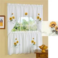 White Kitchen Curtains With Sunflowers by Sunflower Curtains Kitchen Images Where To Buy Kitchen Of Dreams