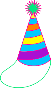 Birthday Hat Clipart No Background C Black And White