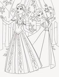 Princess Elsa Frozen Coloring Pages Disney For And Anna Page