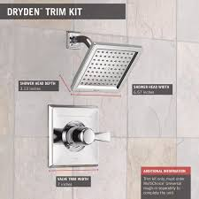 Delta Dryden Faucet Polished Nickel by Delta Faucet T14251 Dryden Monitor 14 Series Shower Trim Chrome