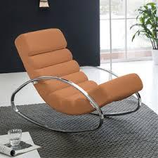 finebuy relaxliege braun kunstleder sessel fernsehsessel metallrahmen farbe braun relaxsessel design schaukelstuhl wippstuhl modern