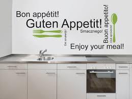 guten appetit wandtattoos für die küche kreative auswahl