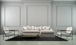 moderne wohnung innenarchitektur wohnzimmer und wand