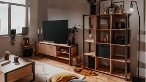 wohnwand denton wohnzimmer melamin artisan oak anthrazit
