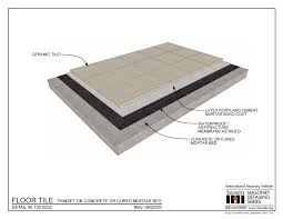 06 130 0202 floor tile thinset on concrete or cured mortar bed