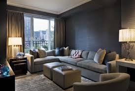 beautiful small living room design interior with modern grey