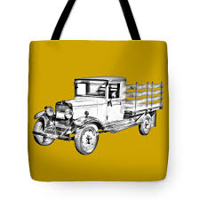 100 1929 Chevy Truck 1 Ton Stake Body Drawing Tote Bag For Sale By Keith