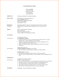 Resumes For Internships College Students
