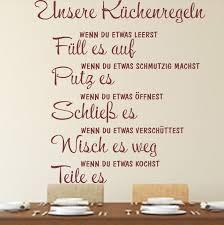 wandtattoo küchenregeln küche spruch zitat wallart familie