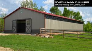 50'x100'x15' | Cleary Horse Barn | Colors: Hickory Moss, Sierra ... Morton Garage In Flint Mi Hobbygarages Pinterest Barn 580x10 24x40x10 Cleary Winery Building Roca Ne Pole Buildings Builder Lester 42x48x10 Horse Chaparral Nm Colors Best 25 Buildings Ideas On Shop 50x96x19 Commercial Sherburn Mn Build A The Easy Way Idaho Testimonials Page 3 Of 500x15 Hickory Moss Sierra 17 Best Ameristall Barns Images Barns