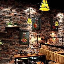 starsglowing retro wandtapete 3d steintapete fototapete für schlafzimmer wohnzimmer cafe bar 9 5 x 0 53 m stein ziegelrot