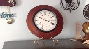 Bed Bath And Beyond Decorative Wall Clocks by Sterling And Noble Wooden Wall Clock Youtube