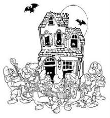 HALLOWEEN COLORINGS Disney The Seven Dwarves Halloween Coloring Page