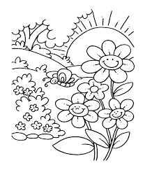 Garden Colouring Pages To Print Free Printable Flower Coloring Secret