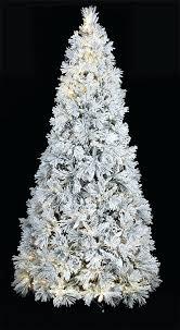 Flocked Slim Pre Lit Christmas Tree C 9 Pine With Led Lights 75 Ft Classic