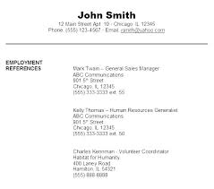 References Formatting Resume Reference Template Directory With How