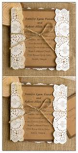Rsvp Cards EWWS048 Country Rustic Printed Lace Wedding Invitations Ewi270 Themed And Burlap EWLS009
