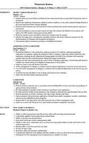 Caregiver Resume Samples Velvet Jobs