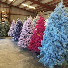 This Year Colored Christmas Trees Could Make Your Home Bright