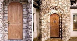 Arched Entry Door W Agave Ironworks Wrought Iron Clavos