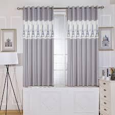 rideau de cuisine en unique panneaux gris court chambre rideaux cuisine europe style