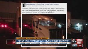Potentially Dangerous Truck Driver Headed To Lakeland May Be ... Truck Driver Hours Of Service Semi Drivers Coloring 23f For Nascar Controversial Rules Put Spotlight On Safety New Hgv And Working Time Directive Basics Youtube How To Stay Healthy As An Ovtheroad Develop Hos Electronic Logbook App For Commercial Vehicle The Of Calamp Traing Commercial Fmsca Changes Go Into Effect Today July 1 Howmhdotruckdriversmakeinfographicjpg Mrsinnizter Datrucker Tutorial Rise In Sleep Apnea Related Accidents Forces Fmcsa To 60 70 Hour Rule Fv3