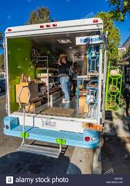 100 Mobile Boutique Truck In The Funk Zone In Santa Barbara California USA