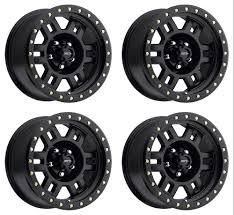 100 6 Lug Truck Rims Set 4 15 Vision 398 Manx Matte Black Wheels 15x8 X55 19mm