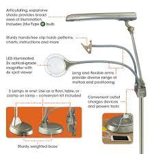 Ott Light Floor Lamp With Magnifier by Ottlite Ultimate 3 In 1 Craft Floor Lamp Craft Lamp Craft