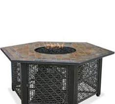 uniflame 55 in decorative slate tile lp gas outdoor pit with